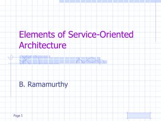 Elements of Service-Oriented Architecture