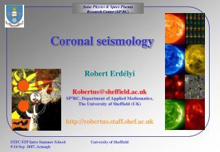 Coronal seismology