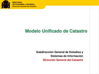 Modelo Unificado de Catastro