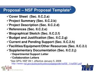 Proposal   NSF Proposal Template