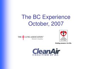 The BC Experience  October, 2007