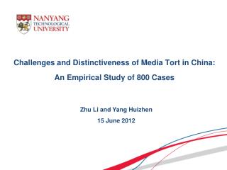 Challenges and Distinctiveness of Media Tort in China :  An Empirical Study of  800 Cases