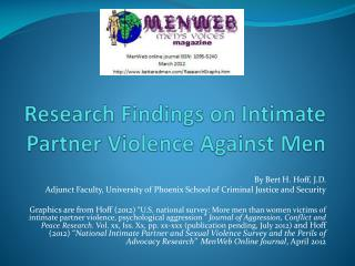Research Findings on Intimate Partner Violence Against Men