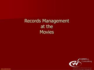 Records Management at the Movies