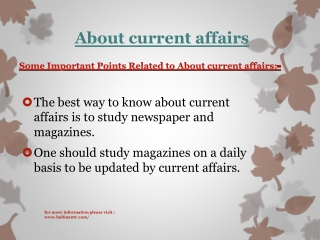 Some topics About current affairs