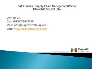 Sap Financial Supply Chain Managementusa