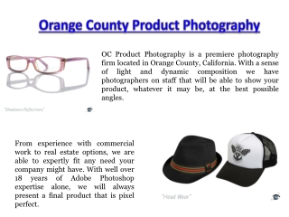 Product Photographer Orange County