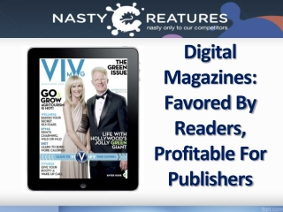 Digital Magazines:Favored By Reader,Profitable For Publisher