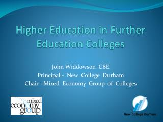 Higher Education in Further Education Colleges
