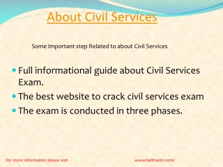 Content For About Civil Services