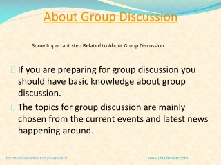 Setp For about group discussion