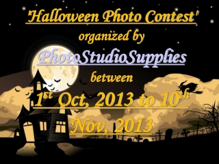 Halloween Photo Contest Organized by PhotoStudioSupplies