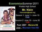 Economics Summer 2011