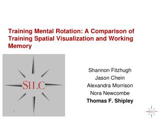 Training Mental Rotation: A Comparison of Training Spatial Visualization and Working Memory
