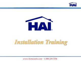 Installation Training
