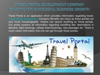 Travel Portal Development Company Benefits for Successful Bu