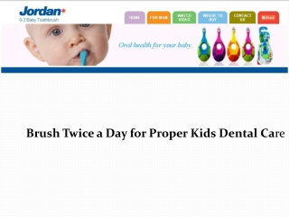 Brush Twice a Day for Proper Kids Dental Care