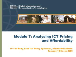 Module 7: Analysing ICT Pricing and Affordability