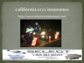 california sr22 insurance