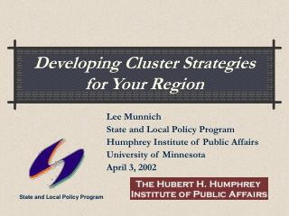 Developing Cluster Strategies for Your Region