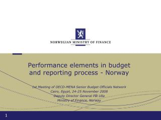 Performance elements in budget and reporting process - Norway