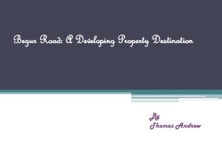 Begur Road: A Developing Property Destination