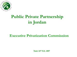 Public Private Partnership in Jordan