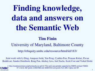 Finding knowledge, data and answers on the Semantic Web