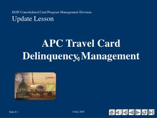APC Travel Card Delinquency Management