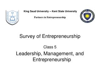 Survey of Entrepreneurship Class 5 Leadership, Management, and Entrepreneurship