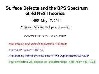 Surface Defects and the BPS Spectrum                      of 4d N=2 Theories