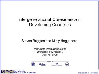 Intergenerational Coresidence in Developing Countries