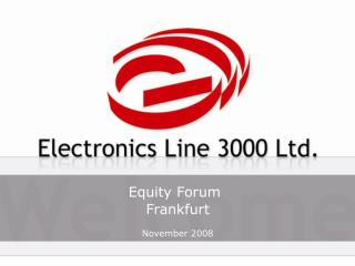 Equity Forum Frankfurt November 2008