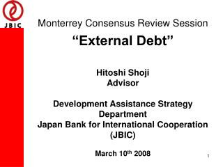 The Monterrey Consensus: 