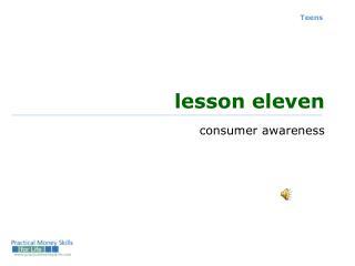 lesson eleven