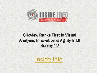 QlikView Ranks First In Visual Analysis
