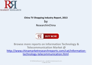 China TV Shopping Industry Report 2013