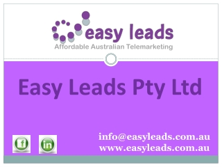 Easy Leads Pty Ltd