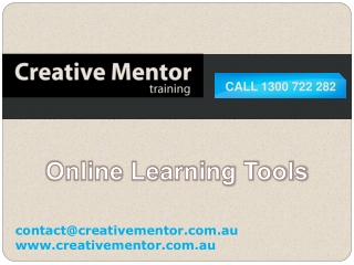 Creative Mentor training - Exclusive Online Learning Tools