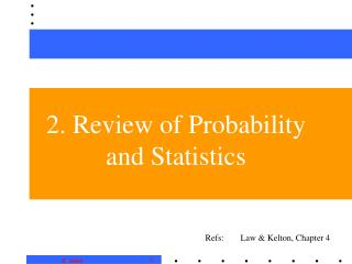 2. Review of Probability and Statistics