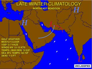 LATE WINTER CLIMATOLOGY