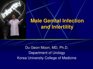 Male Genital Infection  and Infertility