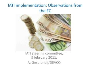 IATI implementation: Observations from the EC