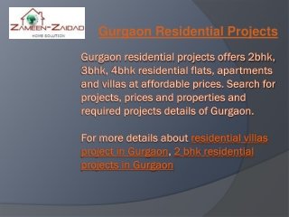 Gurgaon Residential Projects
