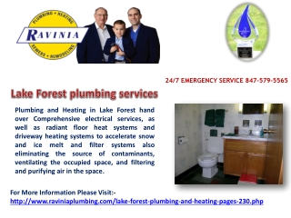 Lake Forest plumbing services