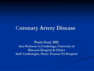 C oronary Artery Disease