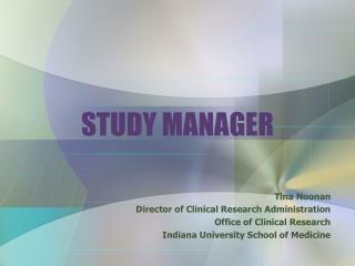 STUDY MANAGER