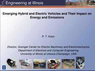 Emerging Hybrid and Electric Vehicles and Their Impact on Energy and Emissions