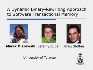 A Dynamic Binary-Rewriting Approach to Software Transactional Memory