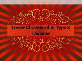 lower cholesterol in type 2 diabetes